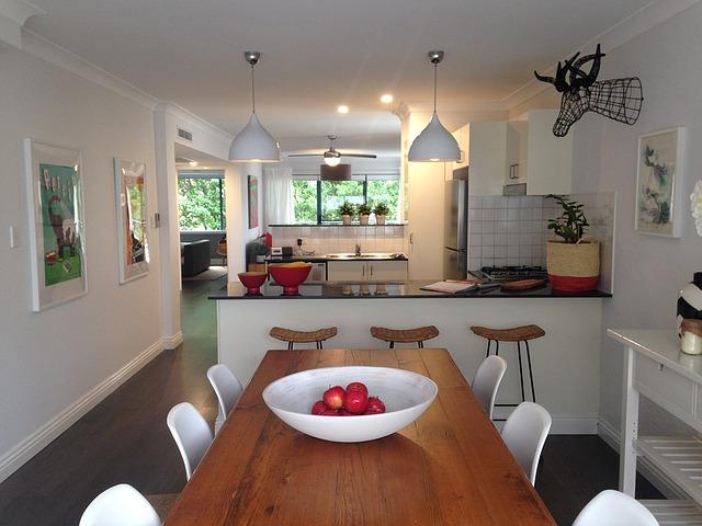 kuchyně, jídelna, moderní bydlení