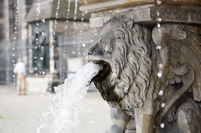 chrlič, lev, voda