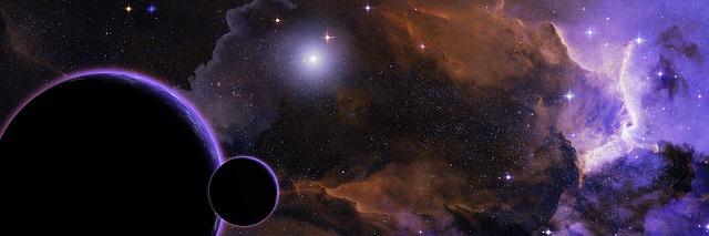 galaxie, vesmír, planety