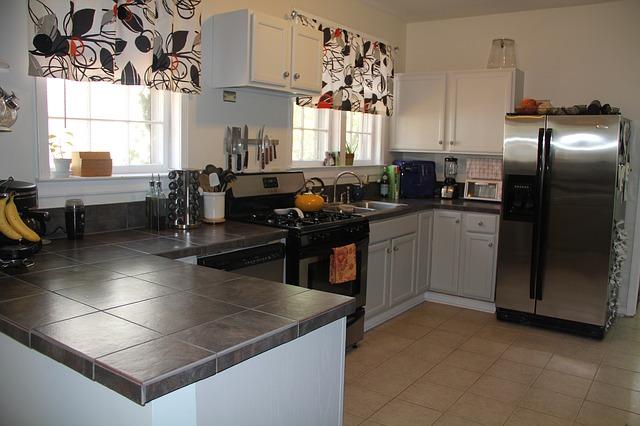 kuchyně, lednice, moderna