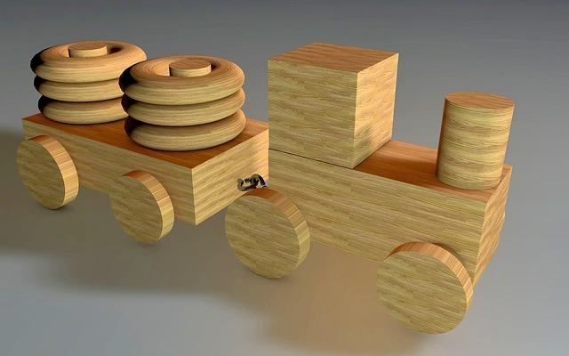 dřevěná mašinka