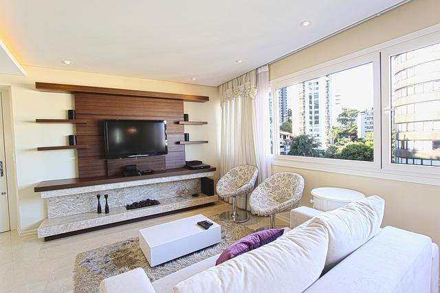 domov, obývák, televize