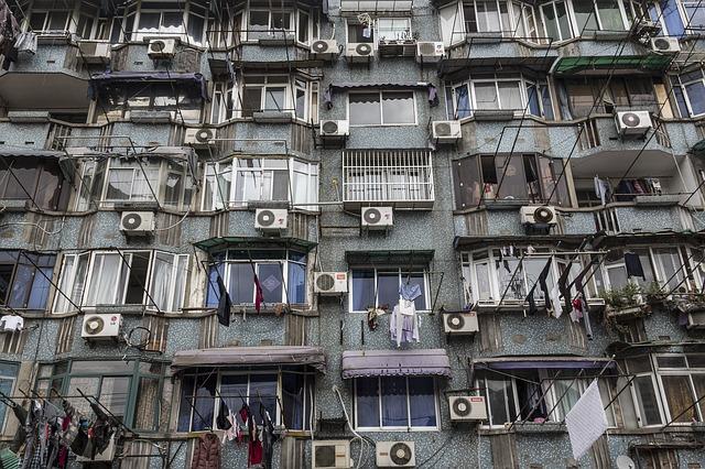 dům, okna, klimatizace