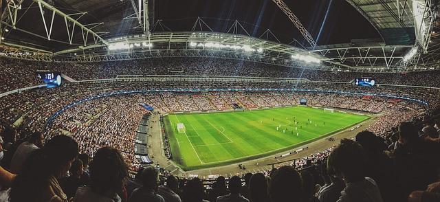 zápas na stadionu