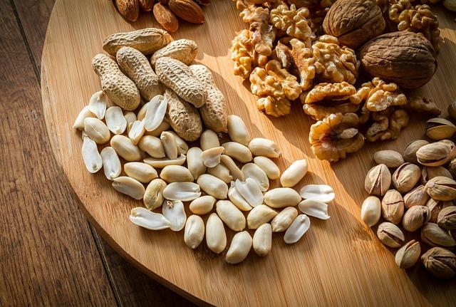 ořechy pro skladování v zip sáčcích