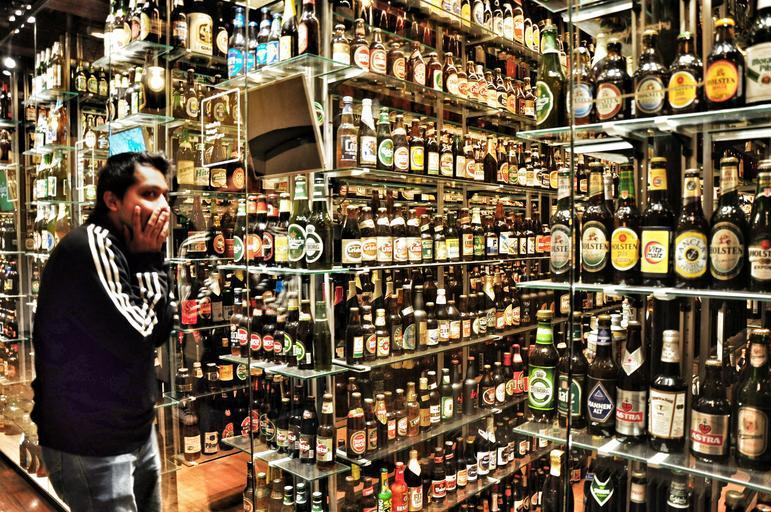 zásoba alkoholu