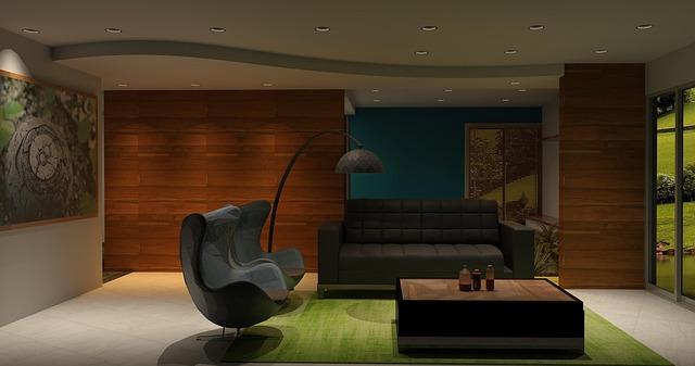 bodové osvětlení obývacího pokoje