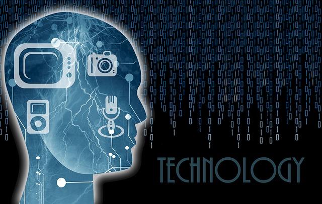 hlava a počítač